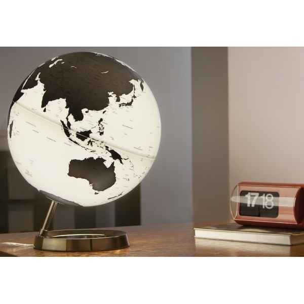 Globe lumineux light and colour metal antharcite en anglais