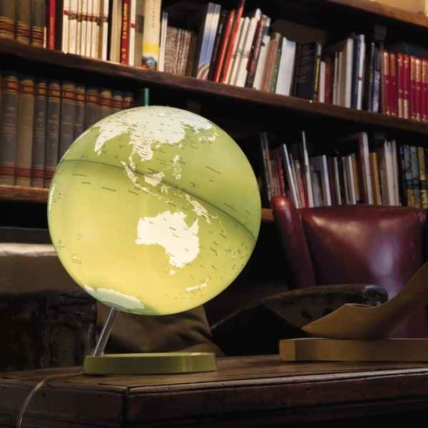 Globe lumineux light and colour pistache en anglais