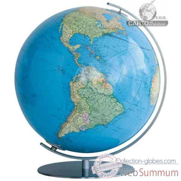 Globe colombus lumineux 40 cm duo acier Cartoth�que EGG -CO204081F