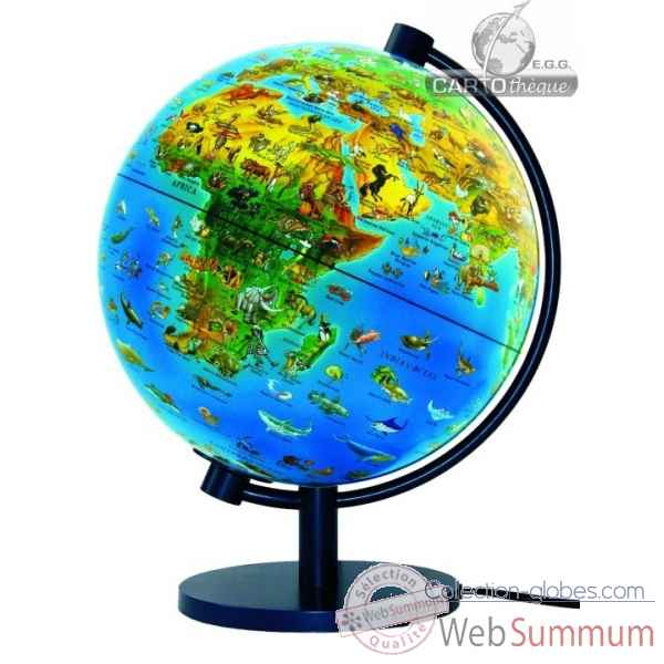 mini globe 11 cm bleu axe incline cartoth que egg slcl11bleu dans terrestre enfant. Black Bedroom Furniture Sets. Home Design Ideas