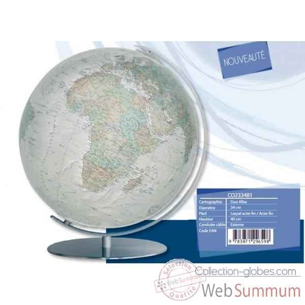 Globe lumineux colombus diam 34 blanc cass� co233481
