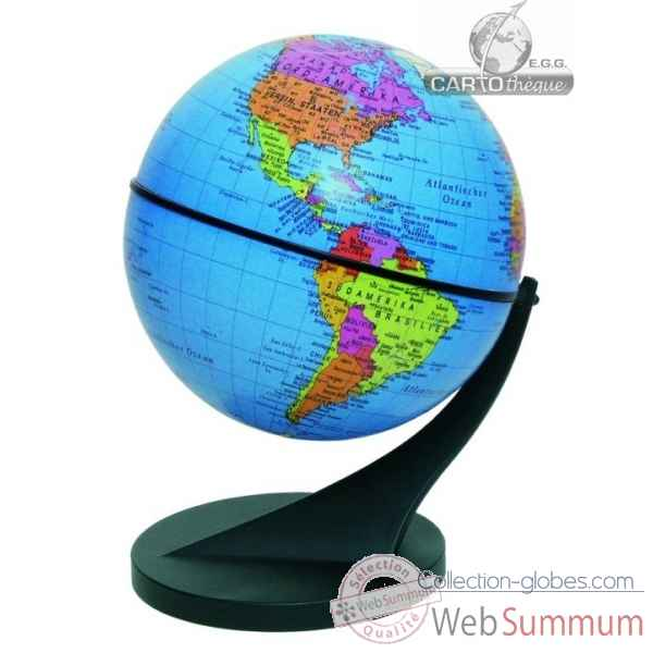 Mini globe 11 cm bleu axe incline Cartotheque EGG -SLCL11BLEU