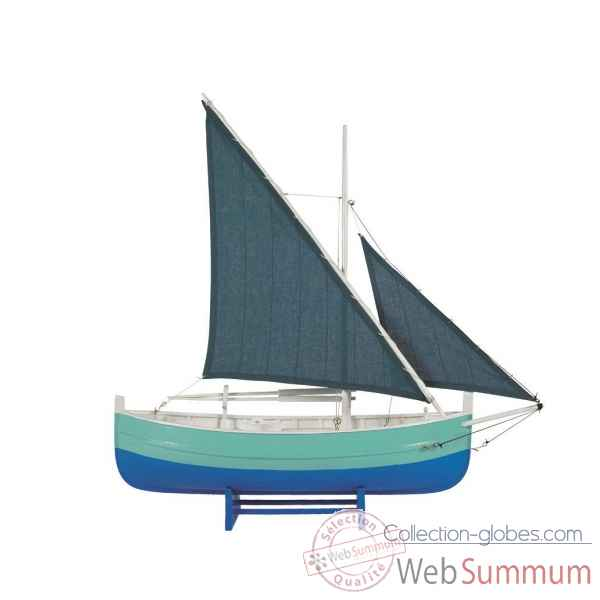 Bateau de peche du golfe, bleu  Decoration Marine AMF AS087