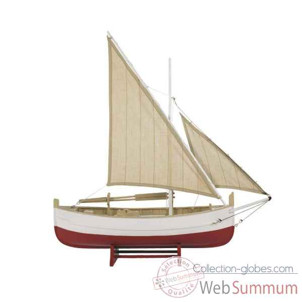 Bateau de peche du golfe, rouge Decoration Marine AMF AS088