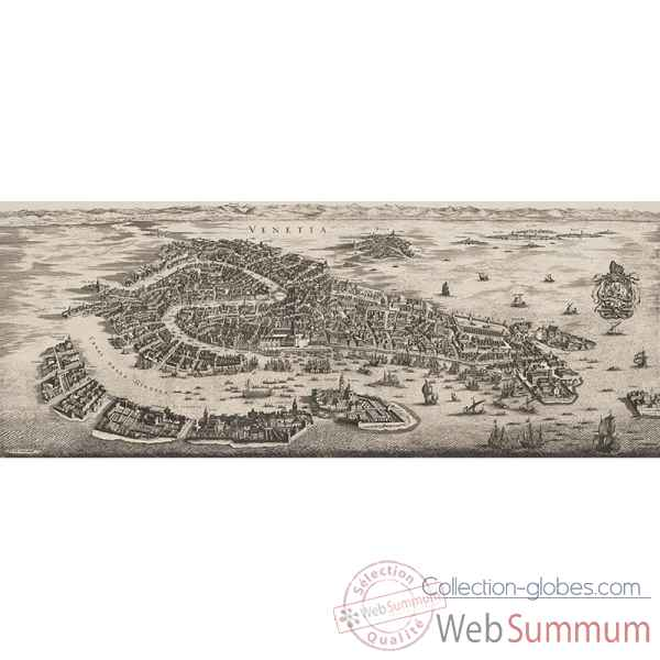 Carte murale venise, 1694 Decoration Marine AMF -AC329