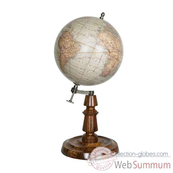 Globe rmn 19th c. 18cm Decoration Marine AMF -GL055