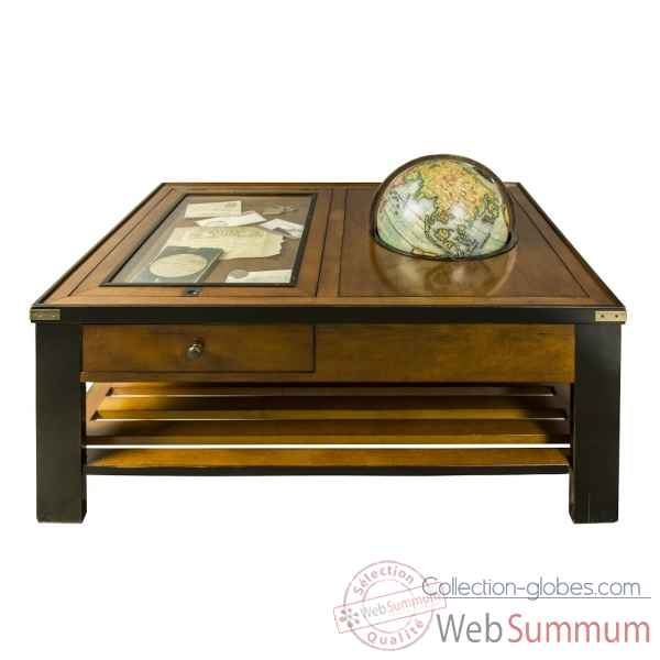 Table galerie et globe Decoration Marine AMF -MF123