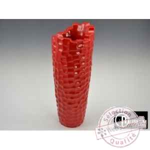 dia vase 51cm rouge Edelweiss -B8187