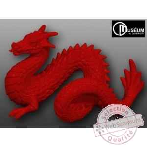 Objet decoration 02 loch-ness dragon rouge Edelweiss -C2197