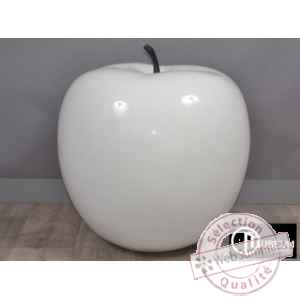 Objet decoration classy pomme blanche 64cm Edelweiss -C7992