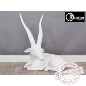 Objet decoration illusion antilope blanche Edelweiss -C8849