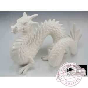 Objet decoration loch-ness dragon blanc Edelweiss -C2195