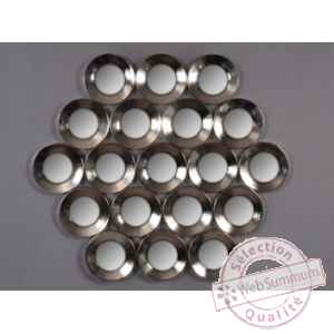 Objet decoration nickel appl murale 19 miroirs Edelweiss -C8923