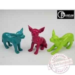 Objet decoration puppy chihuahua x3ass Edelweiss -C8800