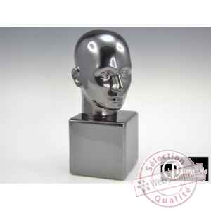 statue apparence visage platine Edelweiss -B5770