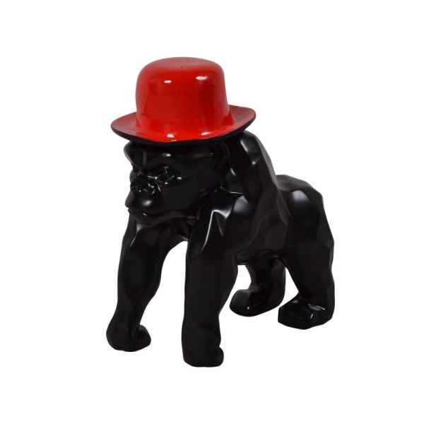 Statue funny singe chapeau rouge Edelweiss -C9247