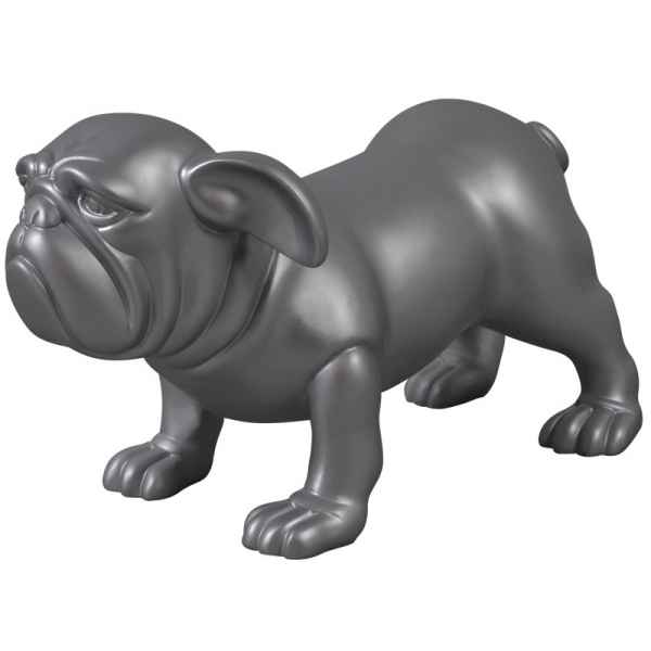 Statue magic chien noir mat Edelweiss -C9428