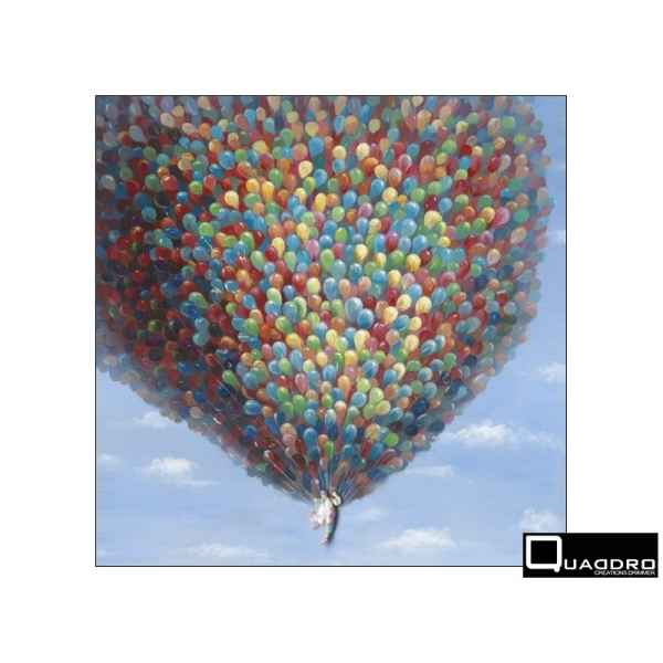 Toile ballons 100x100cm Edelweiss -C6923