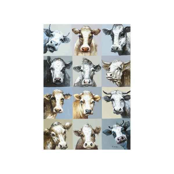 Toile multi-vaches 90x130cm Edelweiss -C6995