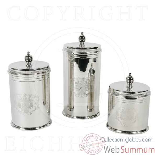 Eichholtz boite a biscuits set de 3 nickel -acc03994