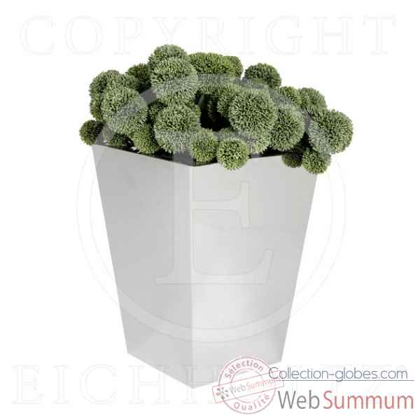Eichholtz pot de fleurs square nickel -acc04723