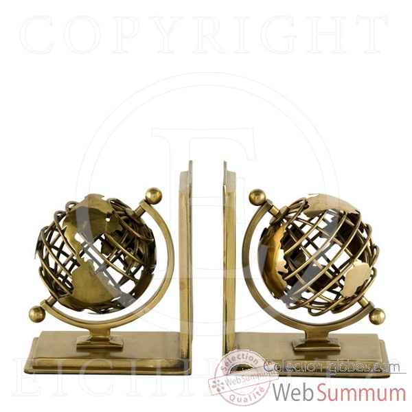 elegant eichholtz serrelivres globe set de cuivre acc with. Black Bedroom Furniture Sets. Home Design Ideas