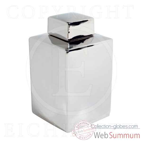 Eichholtz vase supperclub grand ceramique argent -cer04765