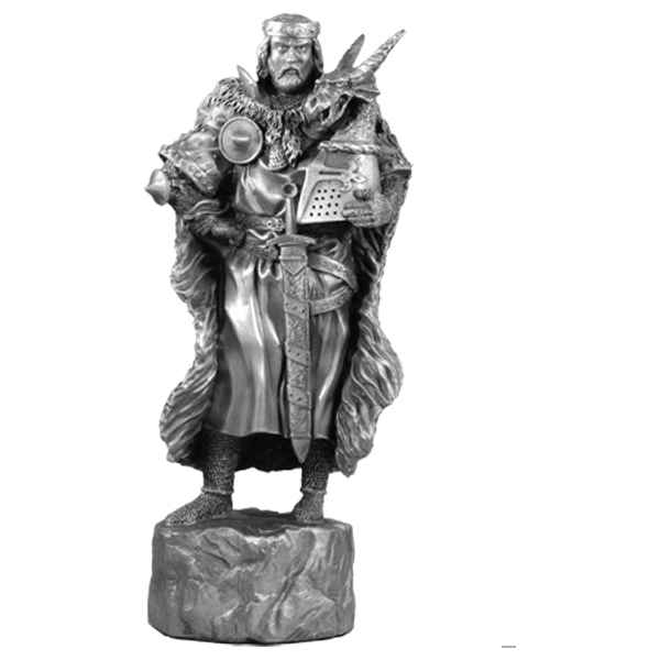 Video Figurines etains Piece echiquier Roi Arthur -CE001