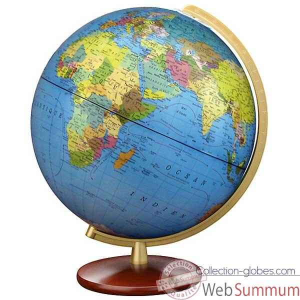 Video Globe geographique Colombus lumineux - modele DUPLEX double vision - sphere 30 cm-CO463052