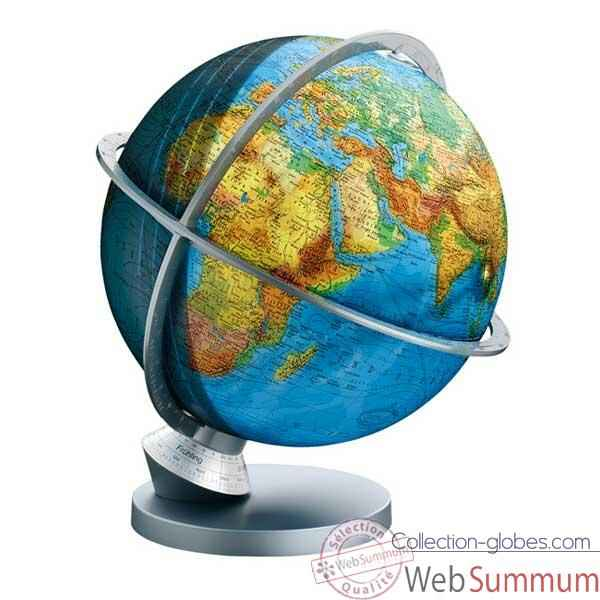 Video Globe geographique Colombus lumineux - modele Planete Terre Panorama - sphere 30 cm-CO4230529