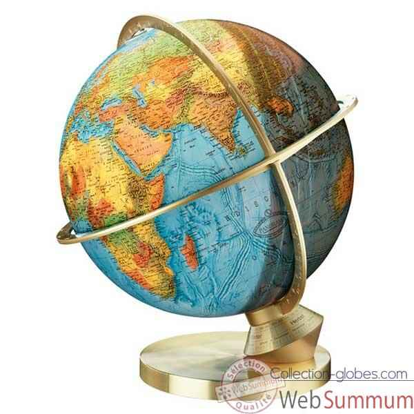 Video Globe geographique Colombus lumineux - modele Planete Terre Panorama - sphere 34 cm-CO483472