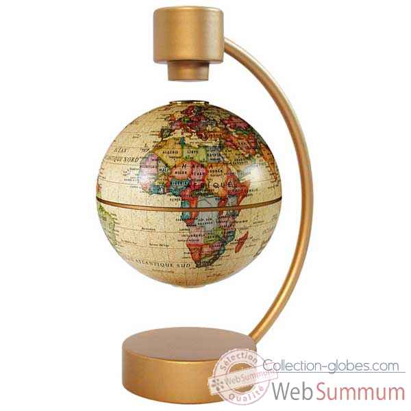 Video Globe geographique Stellanova non lumineux MAGNETIQUE Flottant Antique - sphere 10 -209437