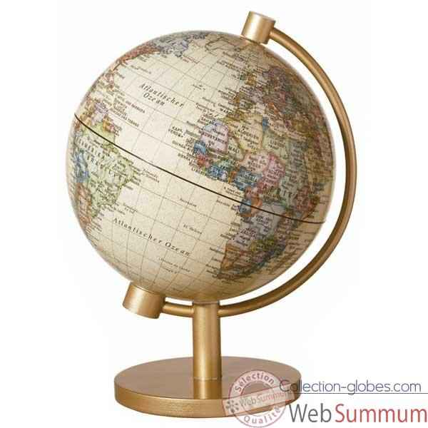Mini-Globe g�ographique Stellanova lumineux Sph�re 13 illumin� antique -217432