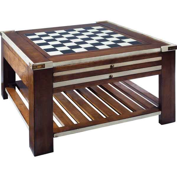 Table basse Table a Jeux Ivoire -amfmf005