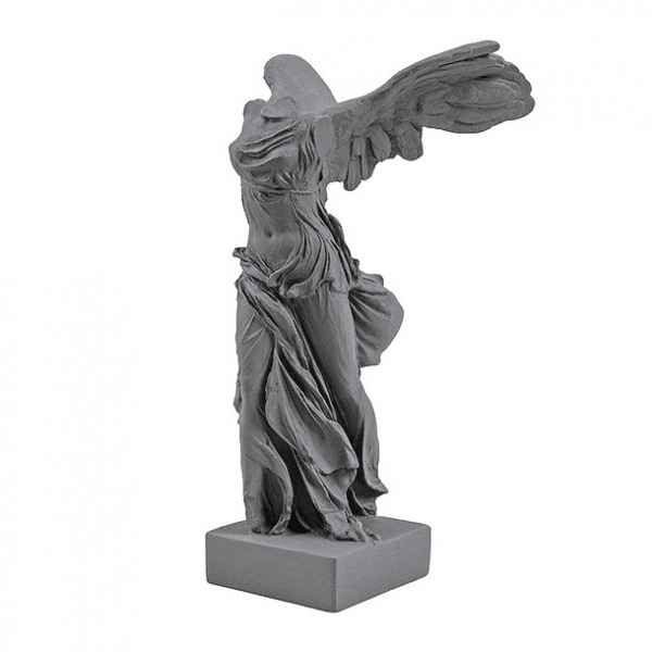 Statuette musee reproduction Victoire de Samothrace 34 cm - Gris souris Samo HIP -art grec -RB002352