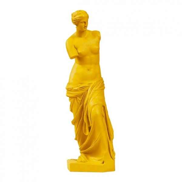 Reproduction statuette musée Vénus de Milo POP art grec jaune Aphrodite -RB002330