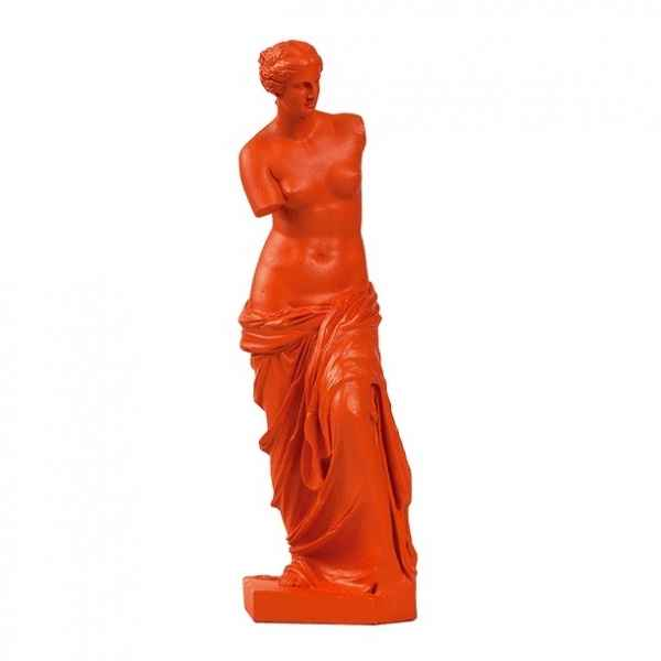 Reproduction statuette musee Venus de Milo POP art grec orange Aphrodite -RB002331