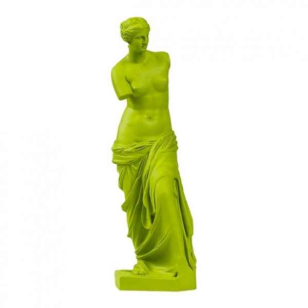 Reproduction statuette musee Venus de Milo POP art grec vert Aphrodite -RB002329