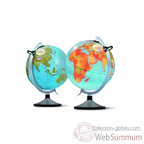 globe lumineux uranio relief double cartographie 30 cm diam tre sicjeg dans terrestre enfant. Black Bedroom Furniture Sets. Home Design Ideas