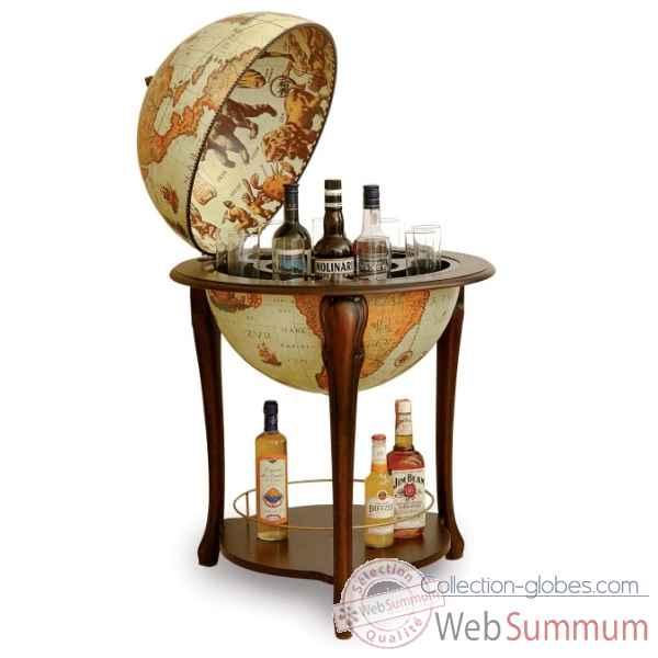bar mappemonde avec tag re zoffoli dans mappemonde sur collection globes. Black Bedroom Furniture Sets. Home Design Ideas