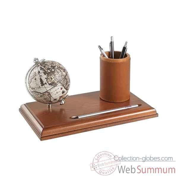 mappemonde de bureau avec compartiment pour stylos zoffoli sur collection globes. Black Bedroom Furniture Sets. Home Design Ideas